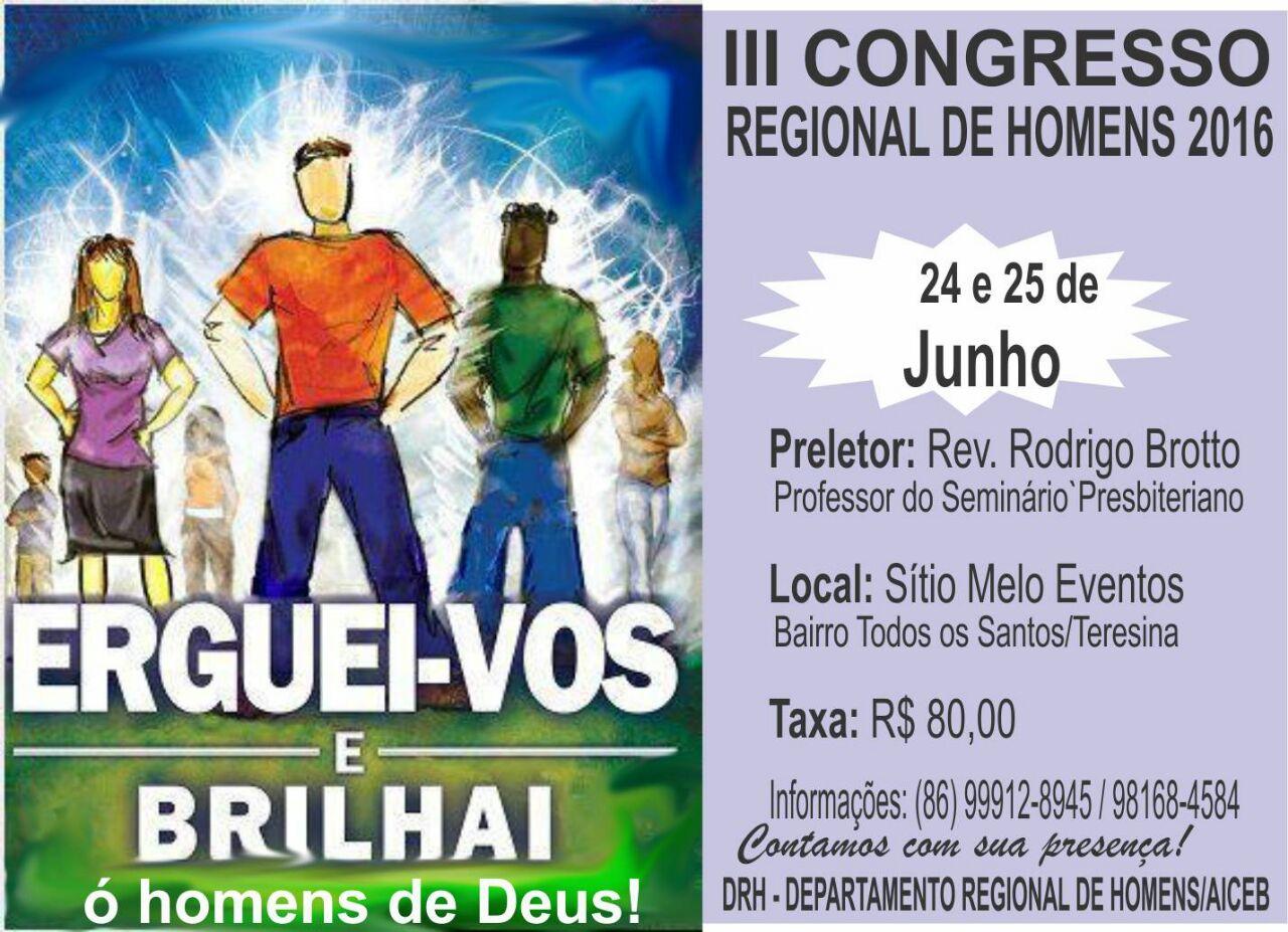 III CONGRESSO DE HOMENS REGIÃO NORDESTE