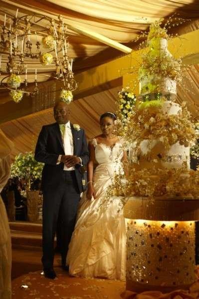 Bella Adenuga Wedding Cake