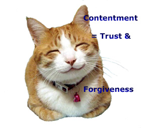 Christian Contentment equals forgiveness, trust
