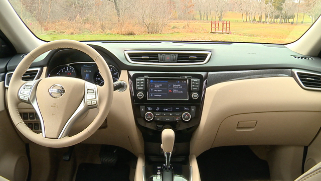 Interior View Of 2015 Nissan Rogue