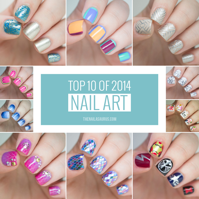Top 10 Of 2014 Nail Art The Nailasaurus Uk Nail Art Blog
