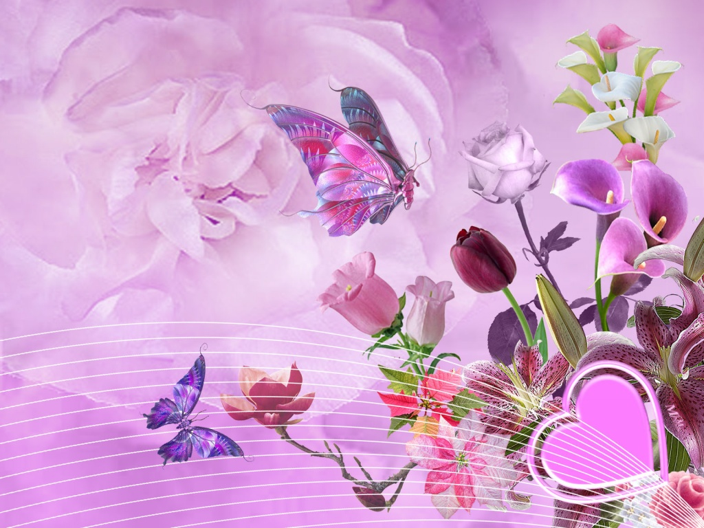 art flowers background wallpaper - photo #3