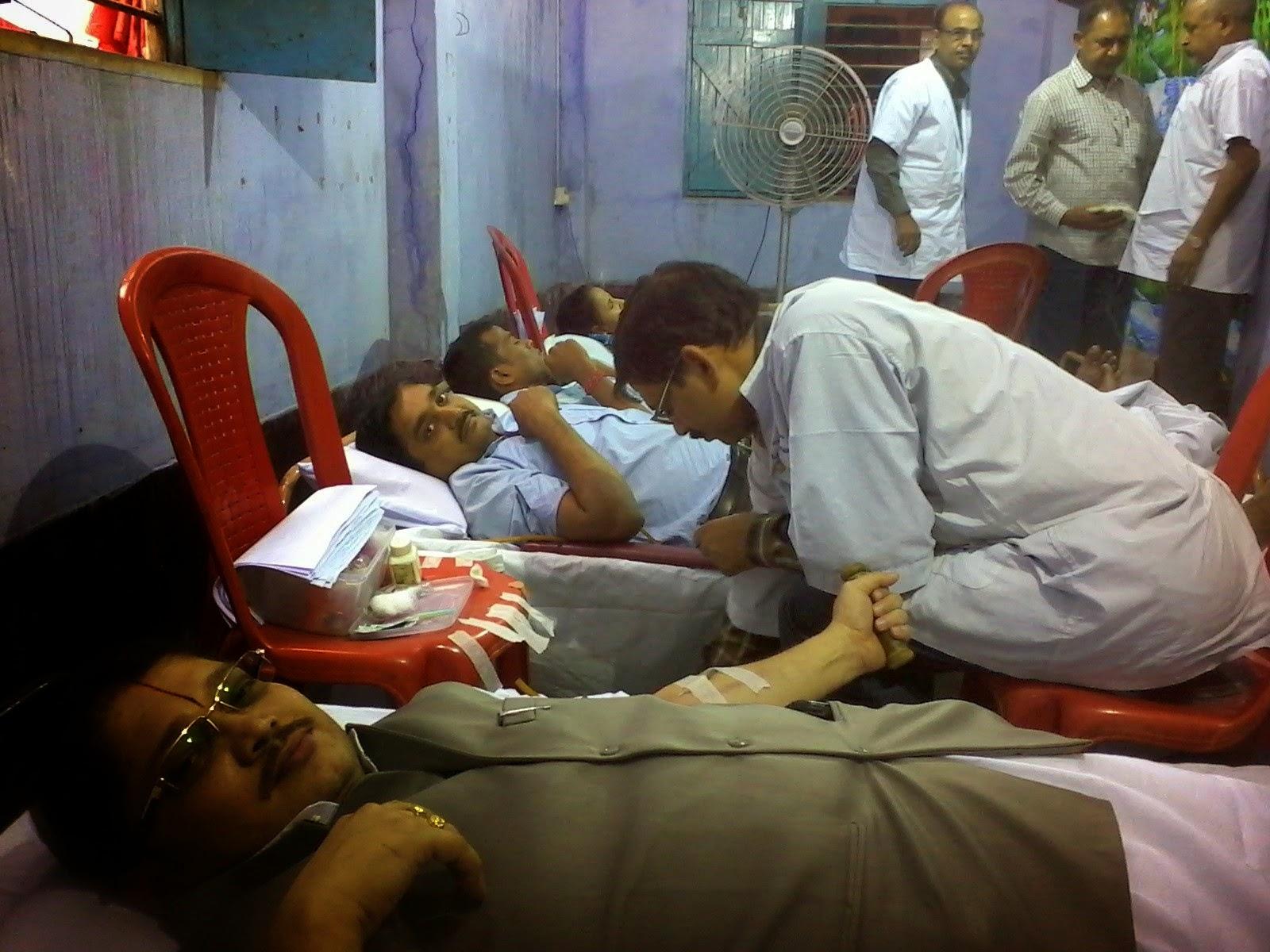 बेलूड़मे रक्तदान शिविरक आयोजन