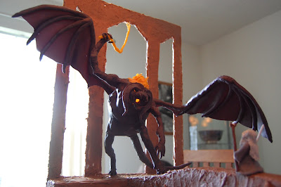 Lord of the Rings Cake - Gandalf Fighting the Balrog 2