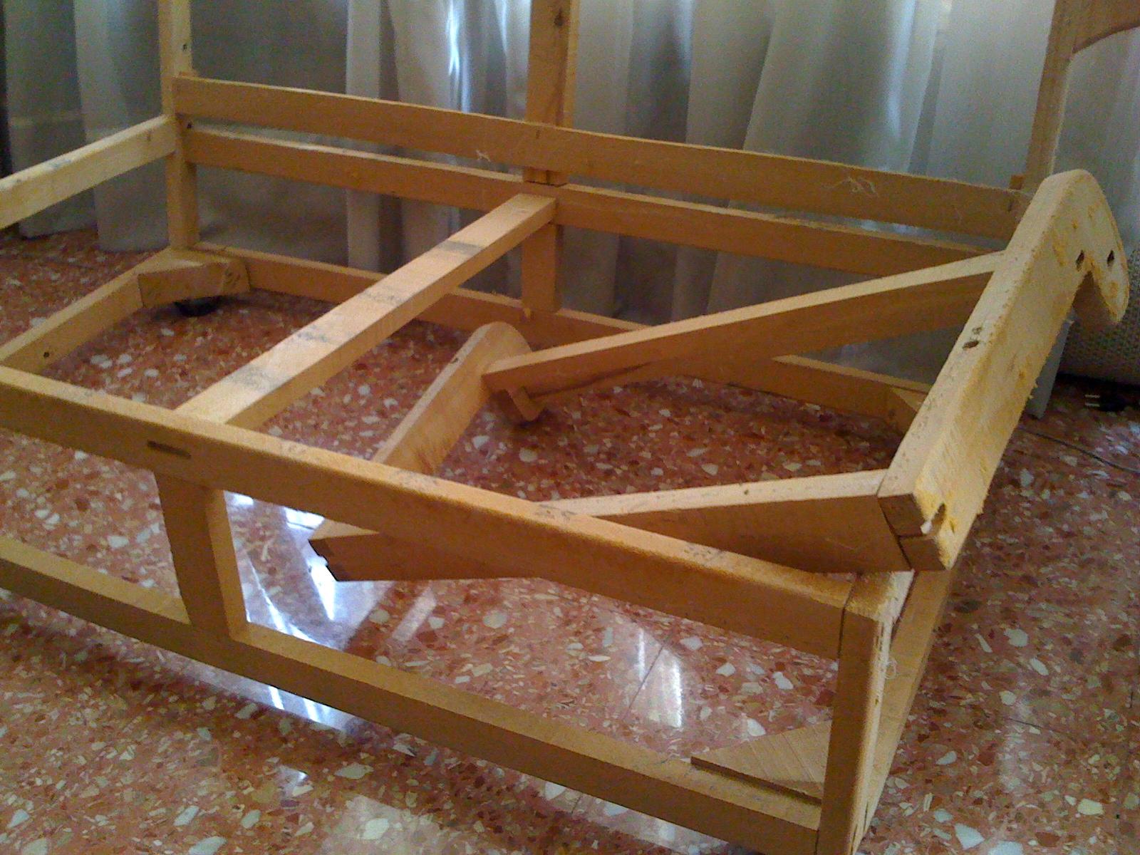El blog de la restauradora tapizar un sof de dos plazas - Como se tapiza un sofa ...