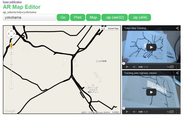 Augmented Reality Maps Editor User Interface