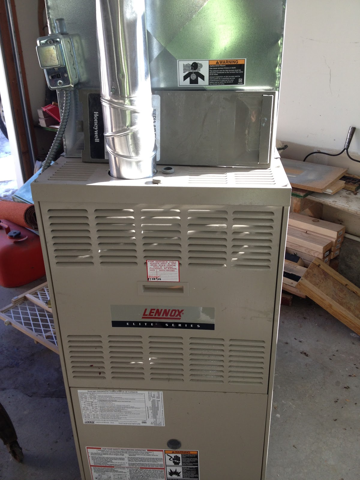 lennox elite series furnace. newer furnace works great - we are renovating an older home in the university area and replaced heating/air conditioning system, plumbing, lennox elite series e