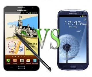 adu galaxy s 3 vs galaxy note menang mana, bagusan galaxy note atau galaxy s iii ya?, adu handphone android samsung layar lebar