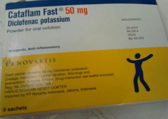 Kegunaan Obat Cataflam Fast 50mg