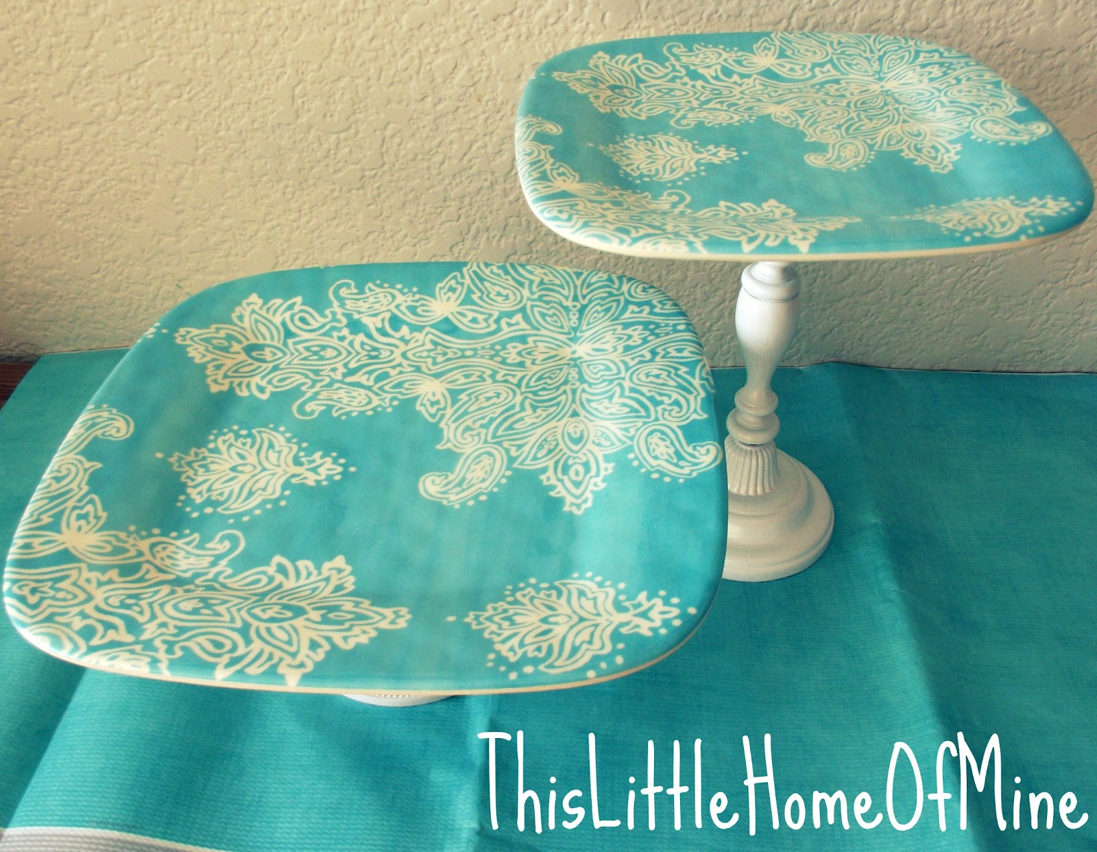 this little home of mine diy cake stand. Black Bedroom Furniture Sets. Home Design Ideas