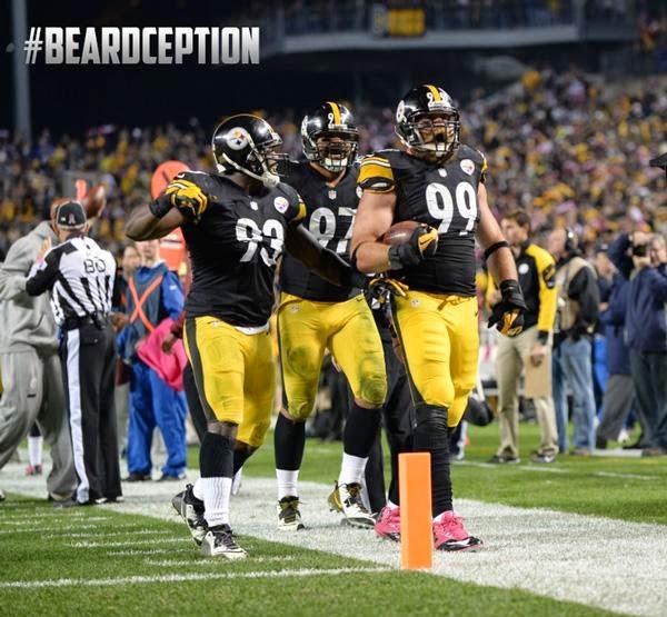 Brett Keisel, interception, Steelers vs. Texans, Monday Night Football