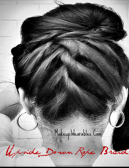 How to upside down braid into bun/chignon updo for short, medium, long hair tutorial. Easy hairstyles for casual, formal, prom, homecoming, wedding