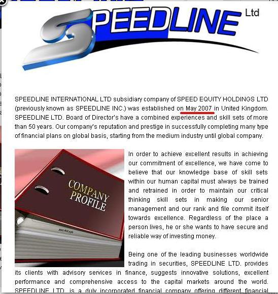 speedline scam