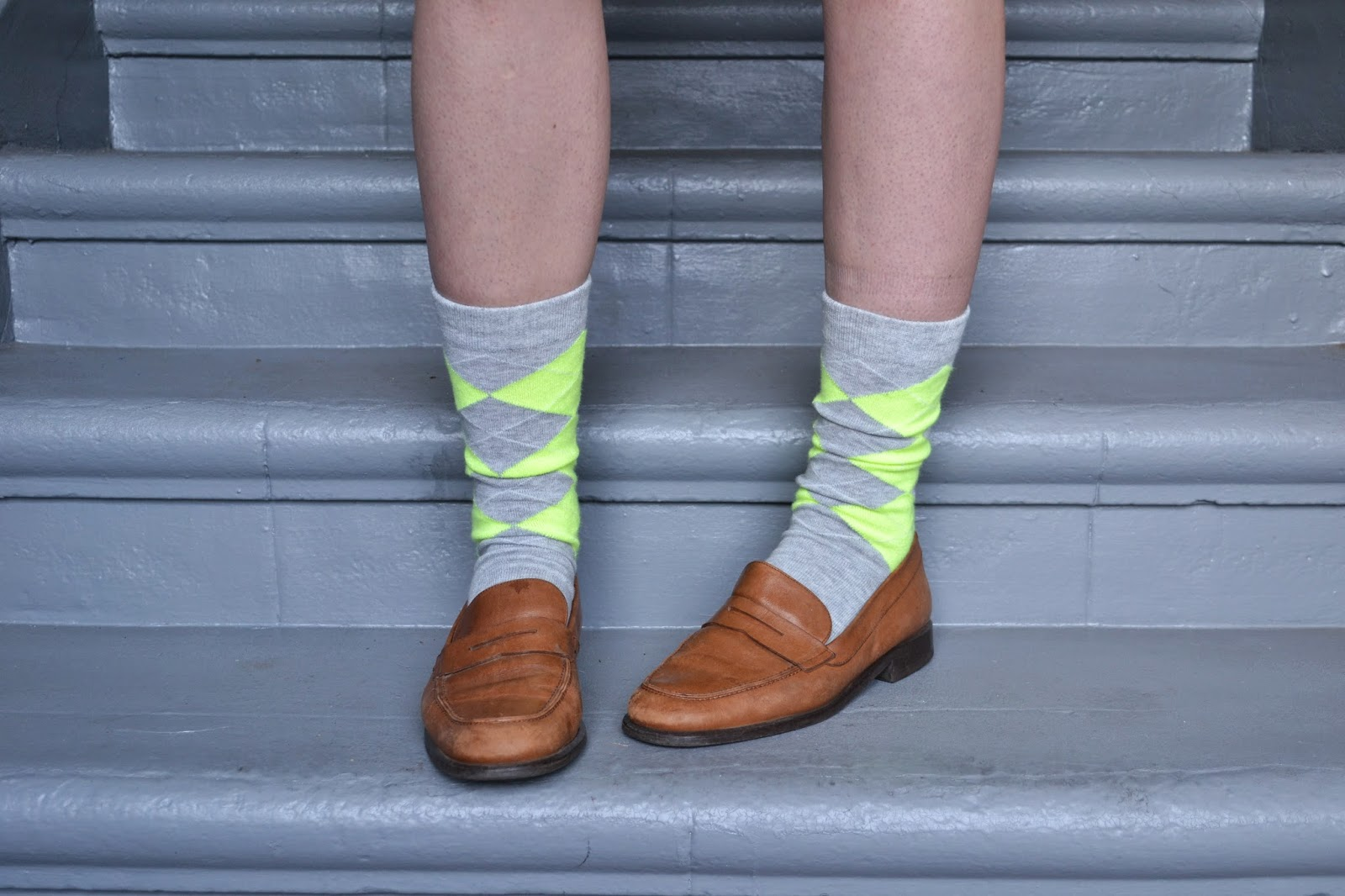argyle, socks, neon, school girl, school boy, fashion, accessories