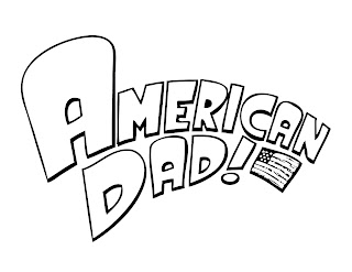 American dad coloring pages logo