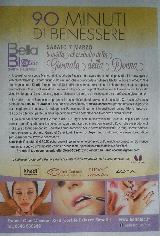 90 MINUTI DI BENESSERE - Bella Bio Eco Chic - 7 Marzo 2015