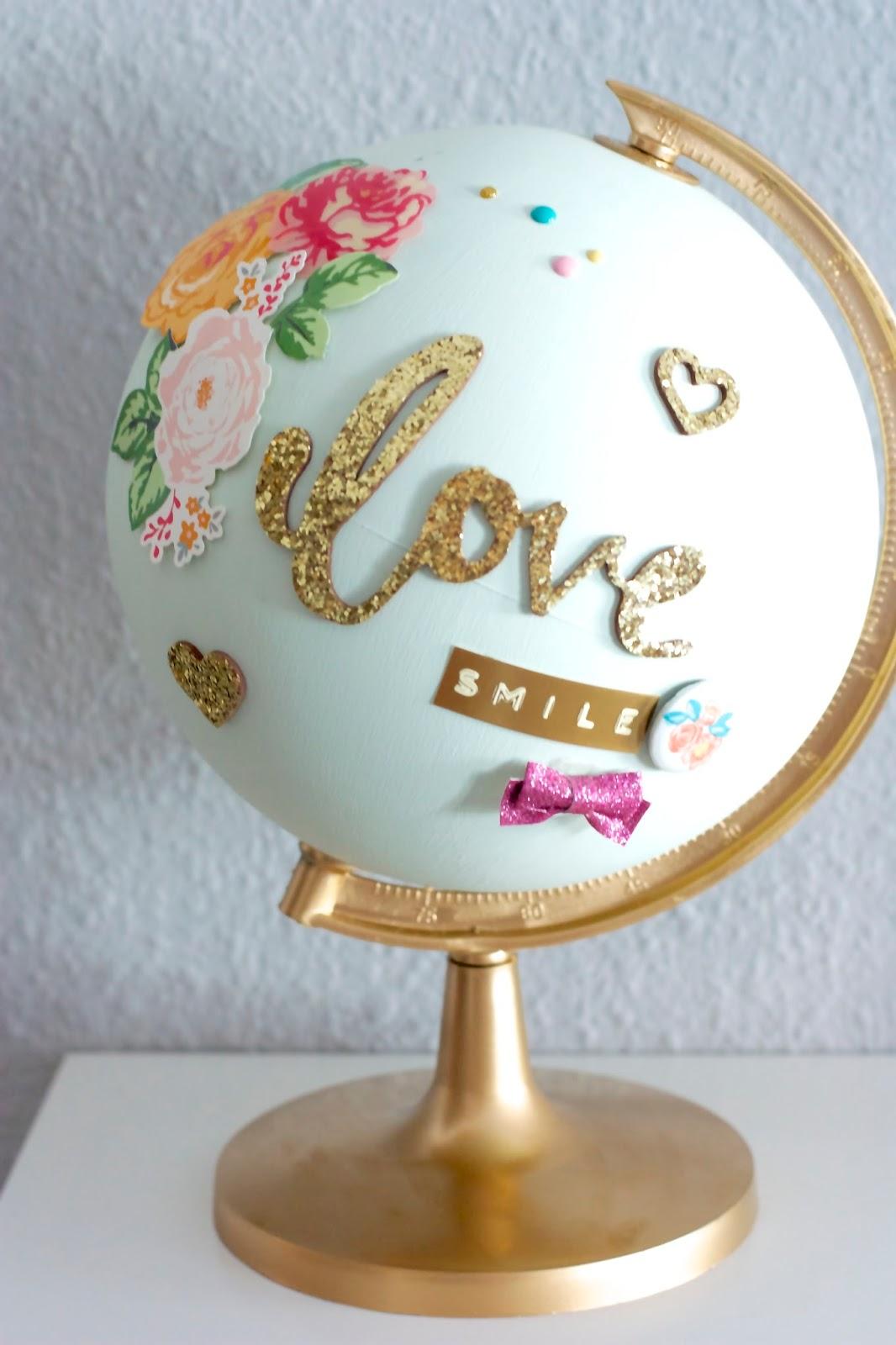 Atrapada en el scrap bola del mundo - Bola del mundo decoracion ...