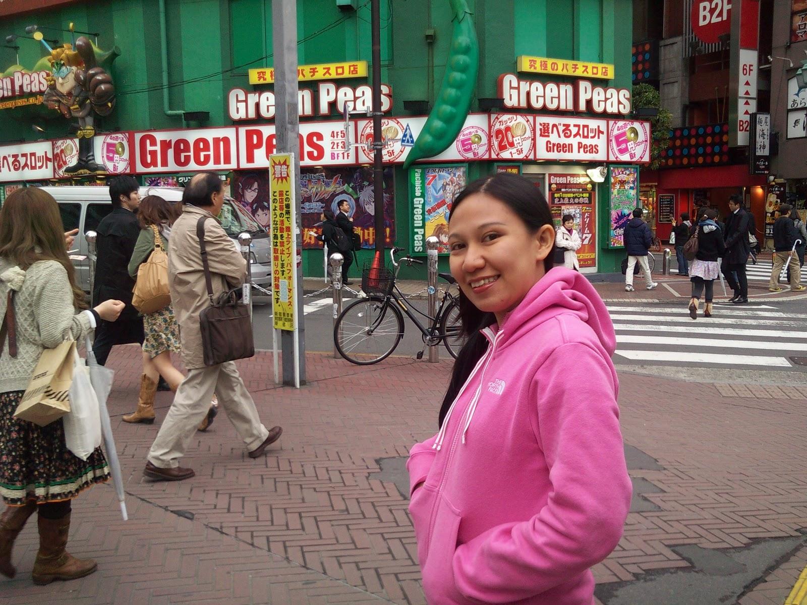 Tokyo Japan Shinjuku Station Green Peas Pachinko