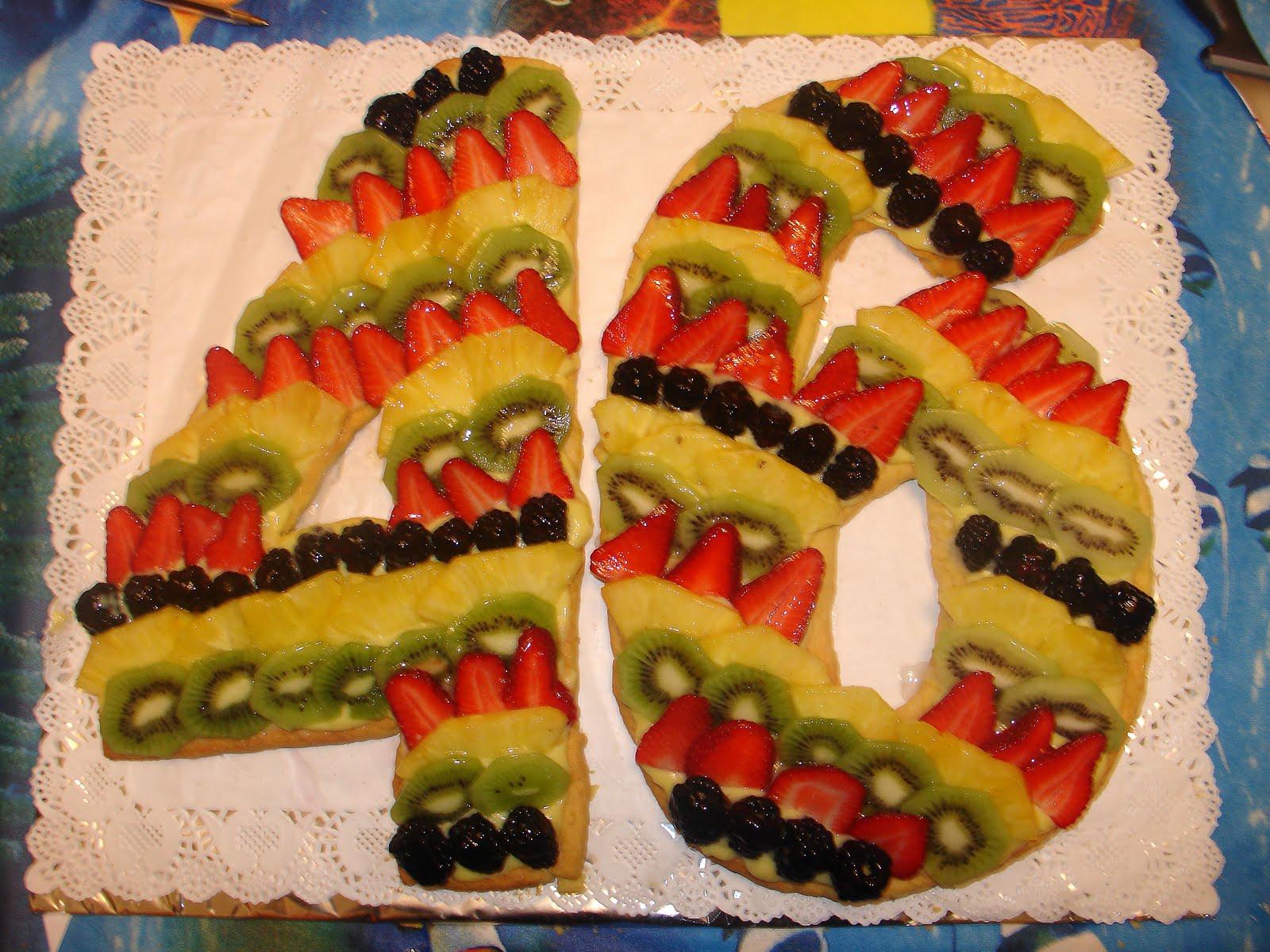 Torta Di Compleanno Per 46 Anni Idea Di Immagine Del Torta