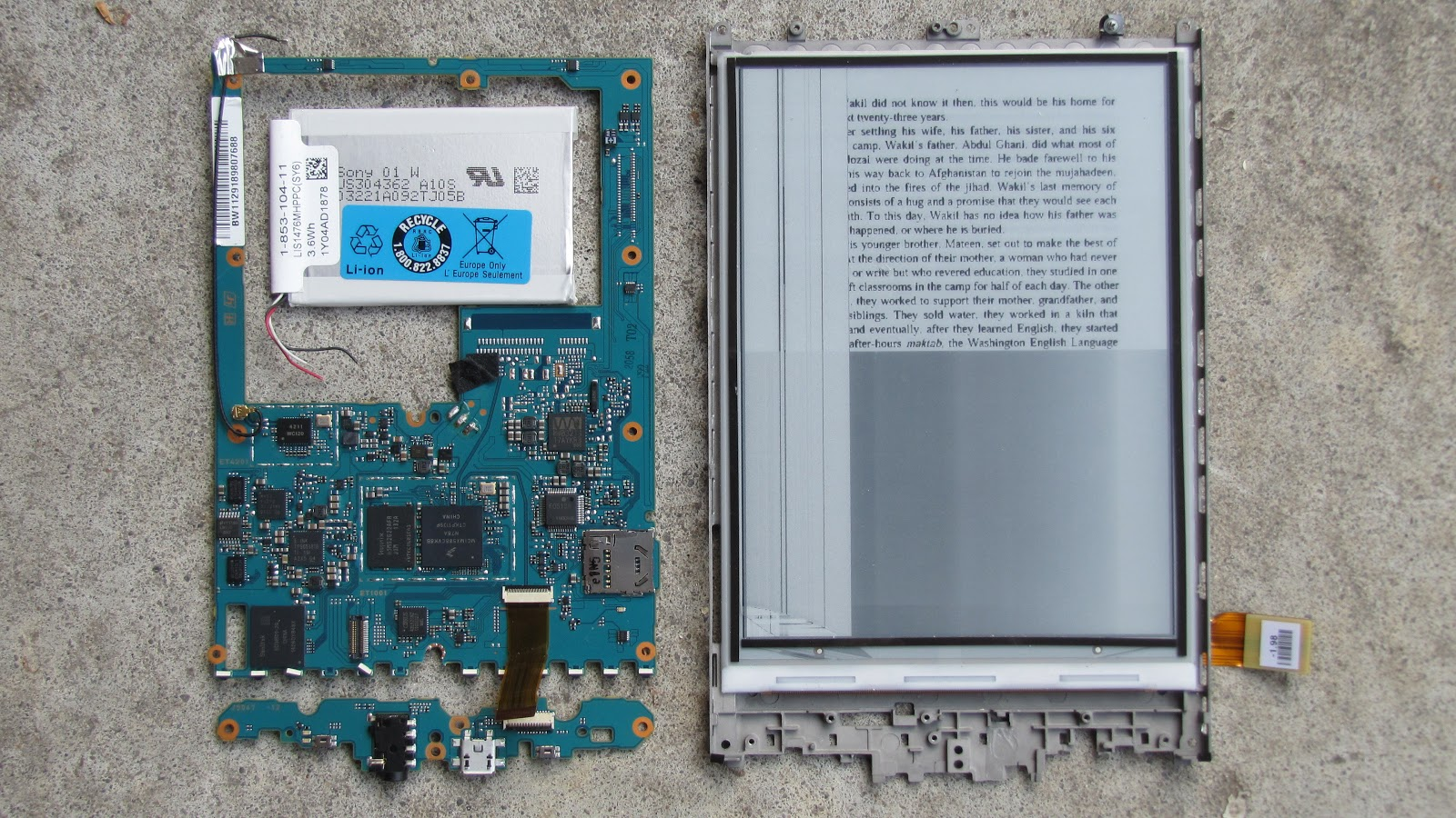 Sony prs t1 схема