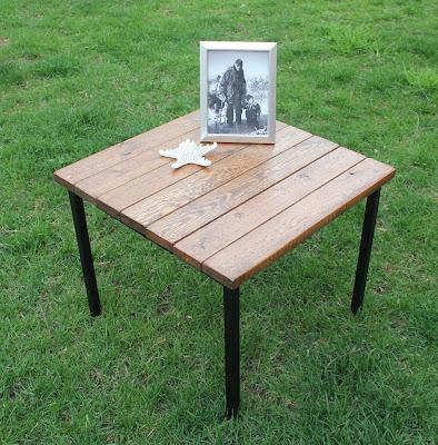 IKEA hack wood table