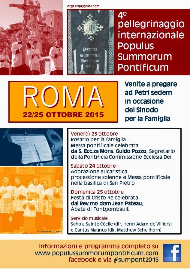 IV Pellegrinaggio internazionale a Roma - 22-25 ottobre 2015