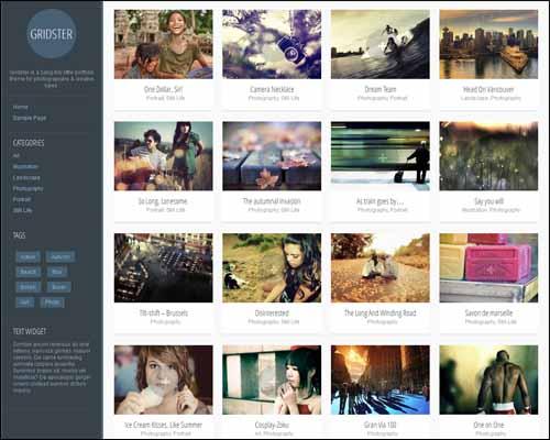 Gridster WordPress Theme