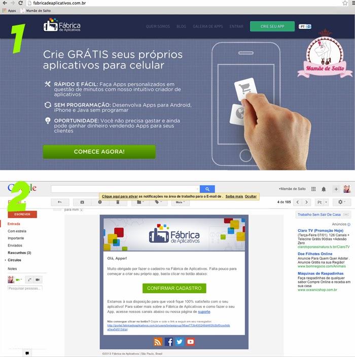 criando aplicativo para smartphone e tablet -- blog Mamãe de Salto
