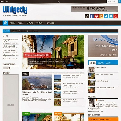 Uong Jowo Blogger Template-FREE DOWNLOAD ALL THEMES UONG JOWO