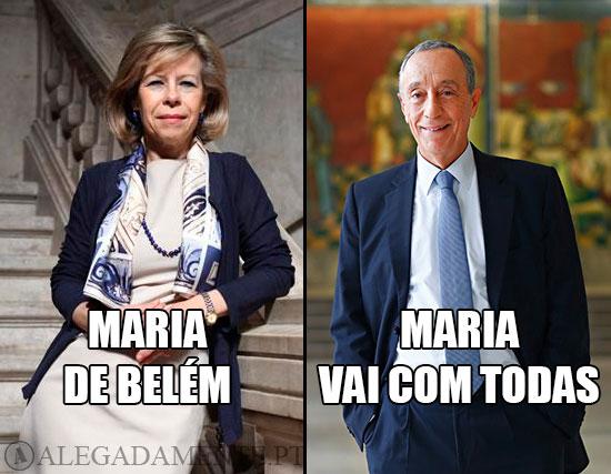 """Imagem de Maria de Belém e Marcelo Rebelo de Sousa – Maria de Belém VS Maria """"vai com todas"""""""