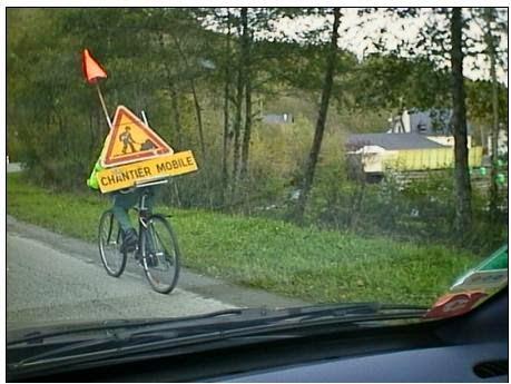 smešne slike: radovi na putu