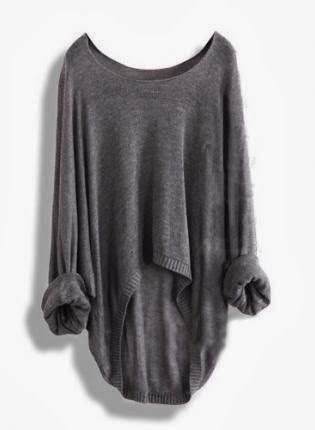 Oversize Grey Sweater for Fall