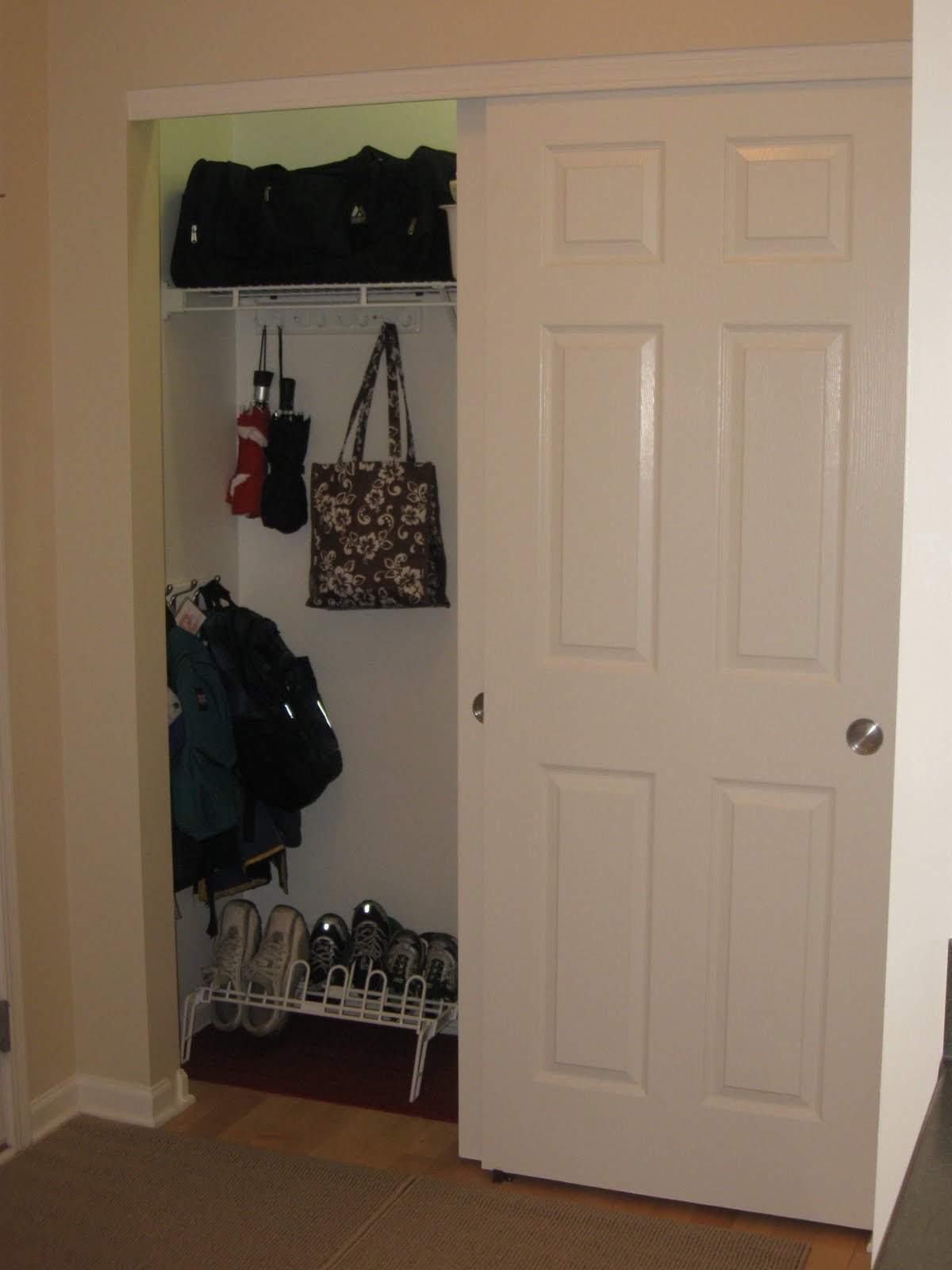 Coat Closet Foyer : On the path to becoming a declutter diva hallway coat closet