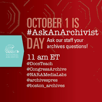 October is Ask an Archivist Day