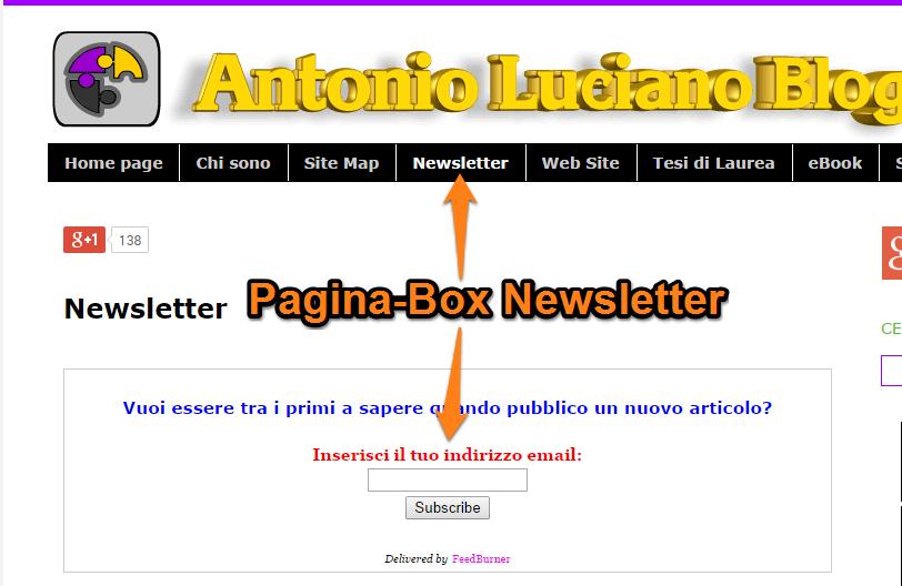 newsletter feedburner antonio luciano blog