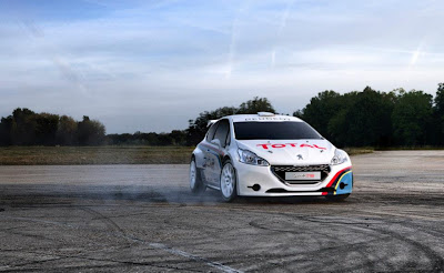 peugeot 208 t16 drifting photo