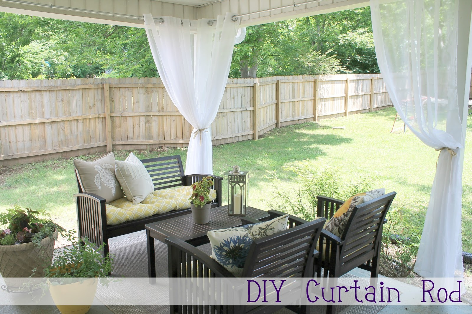 Diy Curtain Rod Chippasunshine