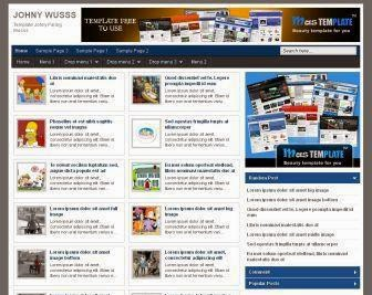 Johny Wusss - Template Blog SEO