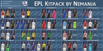 PES 2016 EPL 15/16 Kitpack by Nemanja