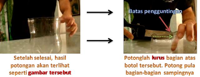 Membuat tempat permen daari botol bekas
