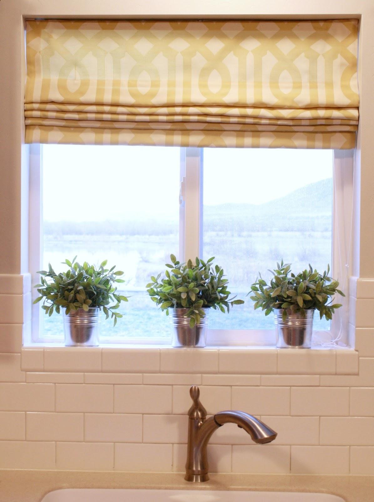 Kitchen window shades 2017 grasscloth wallpaper for Kitchen window