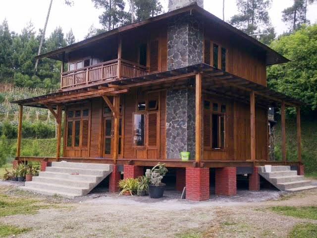 rumah kayu minimalis