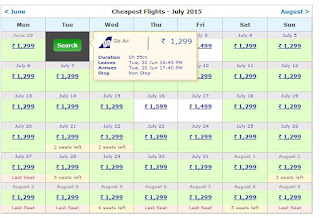 Rs. 1299 Starting Fare on Make My Trip