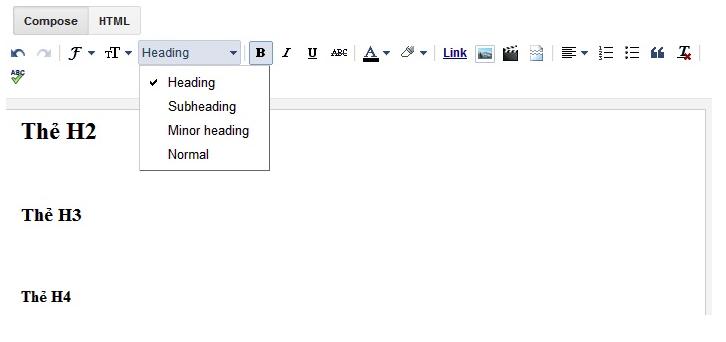Tối ưu thẻ H1, H2, H3 cho Blogspot