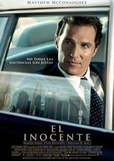 Cartel de la película El inocente, protagonizada por  Matthew McConaughey