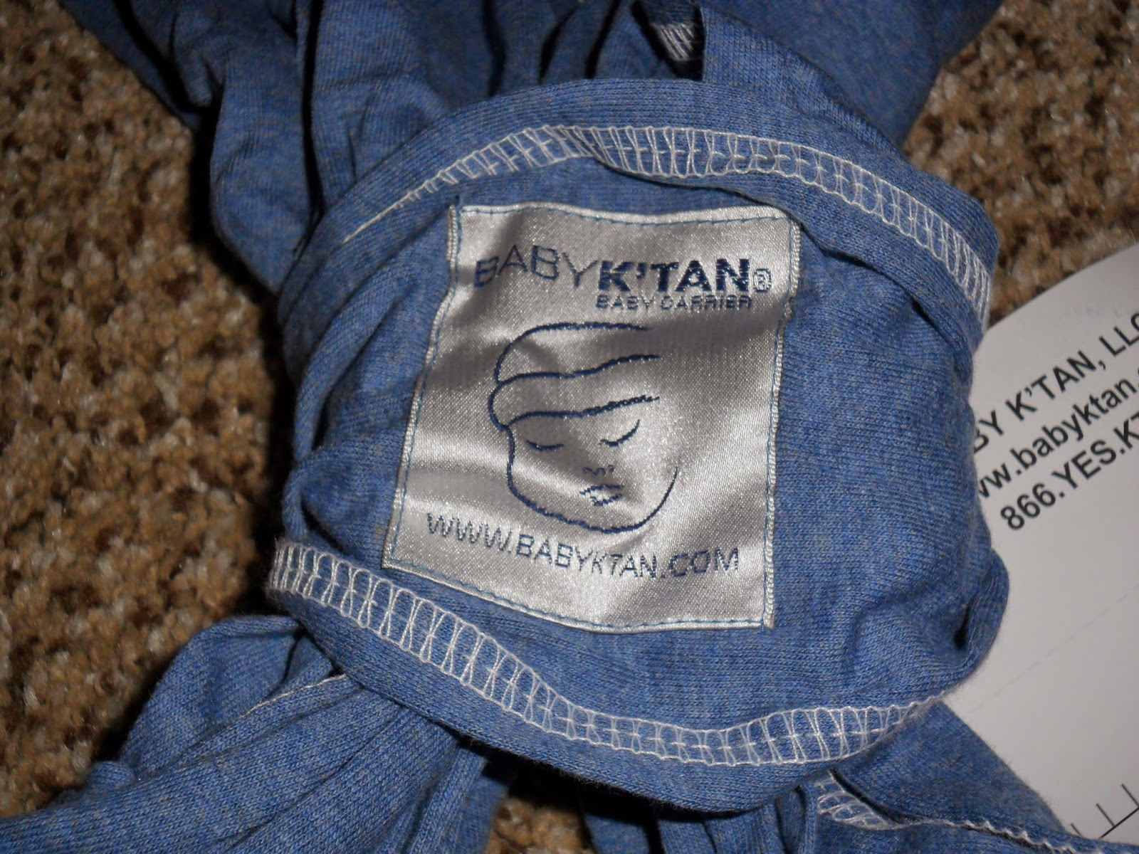 How to wear your baby with Baby K'tan. Review  (Blu me away or Pink of me Event)