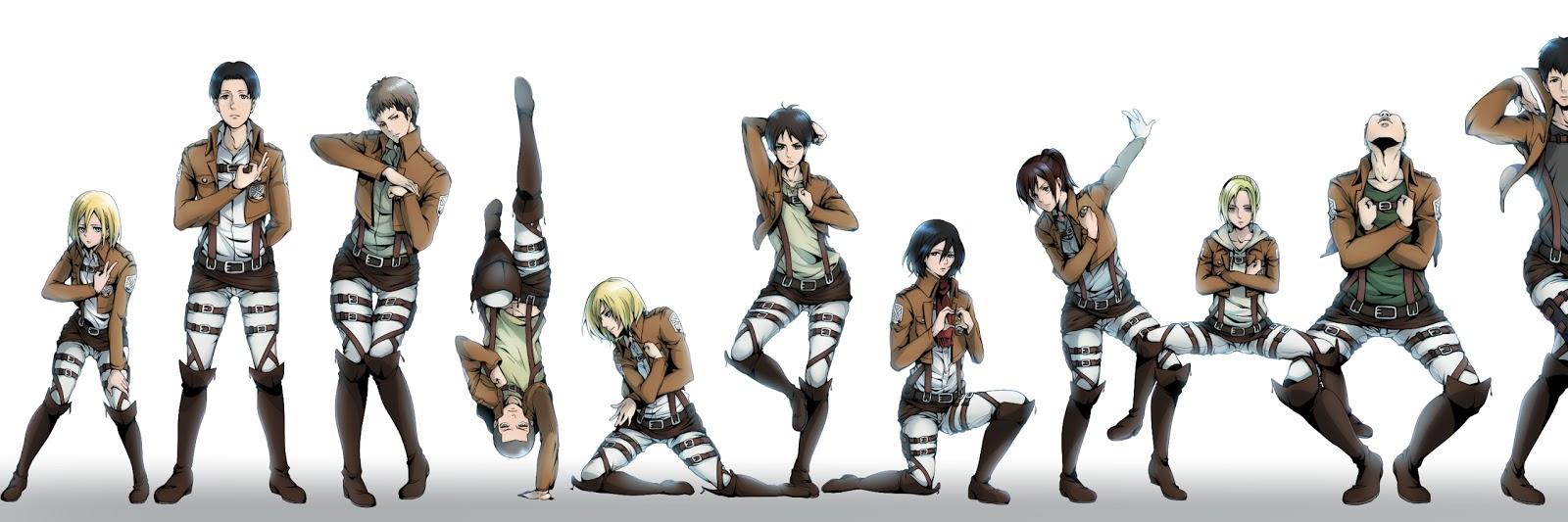 Attack on Titan Shingeki no Kyojin Mikasa Ackerman Eren Jaeger Christa    Shingeki No Kyojin Mikasa Abs