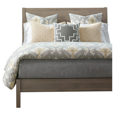 Cute This bedding from Wayfair was perfect The colors look amazing with SW Latte and SW Anonymous The pattern mix is young and fresh while lending a nod