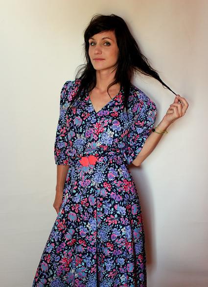 boho vintage dress floral pattern