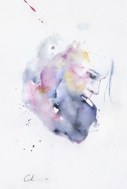 08-January-Silvia-Pelissero-agnes-cecile-Watercolor-and-Oil-Paintings-Fading-and-Appearing-www-designstack-co
